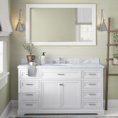 Breakwater Bay Kingon 60 Single Bathroom Vanity Set Base Finish White Top Finish Carrar White Vanity Bathroom Single Bathroom Vanity Double Vanity Bathroom