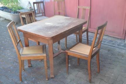Alter Holz Esstisch Mit 4 6 Stühlen In Rheinland Pfalz