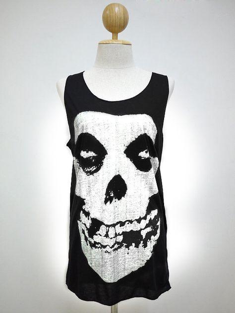 4f6384b0e7863 Skull (Size M)   Horror Skull Art style t-shirt tank top Tunic Unisex Shirt  Vest Women Sleeveless men Singlet Black T-Shirt on Etsy