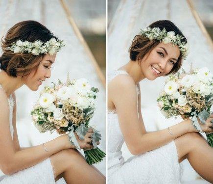 Boho Style Frisuren Sind Fur Hochzeiten Sehr Beliebt Eine Susse