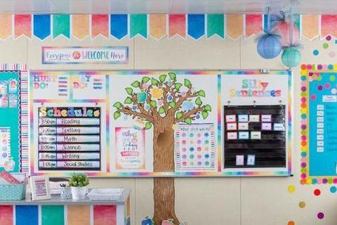 Watercolor Classroom Environment