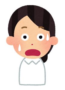 ナースキャップのない女性看護師のイラスト 驚き イラスト 看護師 看護