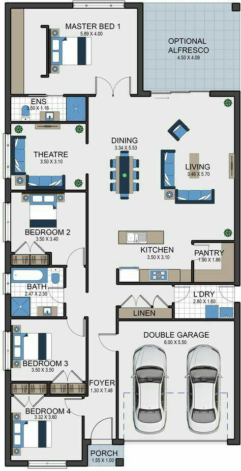 Pin By Phrita Kumala On Homey Floor Plan Design House Floor Plans New House Plans