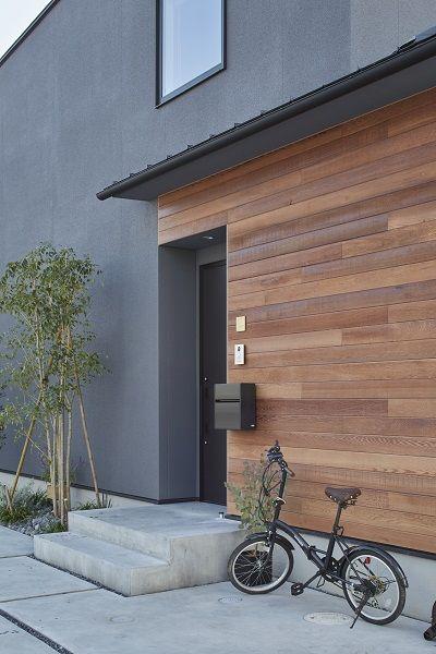 木製外壁材 ウィルウオール でグレーのスタイリッシュさに温かみを