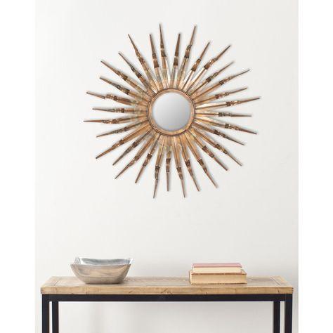 Safavieh Handmade Arts And Crafts Nova Sun Burst Wall Mirror 91 Liked On Polyvore Featuring Home Mirror Wall Sunburst Mirror Entryway Wall Decor