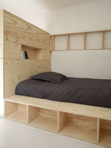 Aménager un petit espace : Du mobilier contreplaqué sur-mesure pour organiser un…