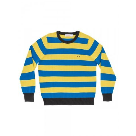 Boy's blue and yellow striped sweater SUN68 SS15 KIDS #SUN68 #SS15 ...
