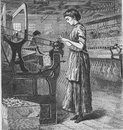 In 1824, textile bosses attempted to reduce wages and increase work hours.  Approximately 500 textile workers protested by going on strike, which shut down textile mills in Pawtucket, Rhode Island for a week.  The strike, largely led by female workers, resulted in employers rescinding the wage cut and change to work hours.
