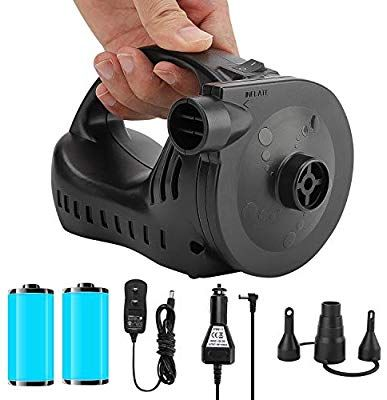 Portable Inflator Air Mattress Pump for Inflatable Bed Lake Floats Rafts Pool