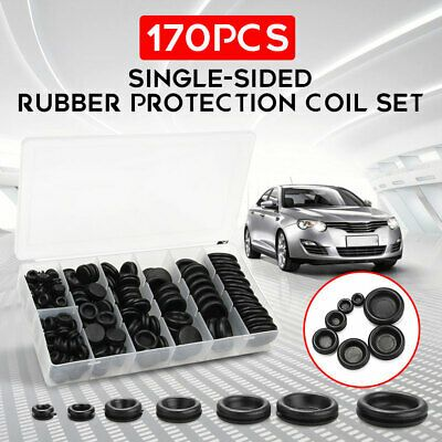 170pcs New Rubber Grommet Firewall Hole Plug Set Car Electrical Wire Gasket Kit