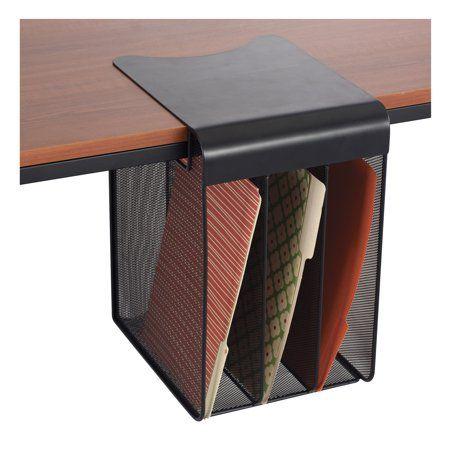 Mesh Horizontal Hanging Desk Storage With Images Desk Storage