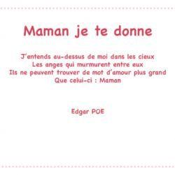 Maman Un Poème Dedgar Poe Avec Tête à Modeler In 2019