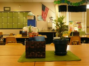 Classroom decoration based on brain research.