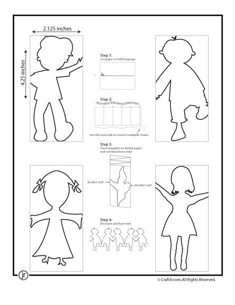Free Printable: Paper Chain People