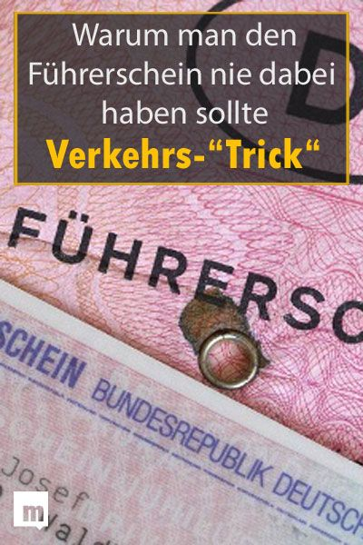 Mannersache Fuhrerschein Verkehrskontrolle Tipp Trick