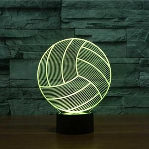 Volleyball 3d Illusion Lamp 3d Illusion Lamp Lamp 3d Led Lamp