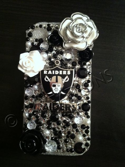 Oakland Raiders Inspired iPhone 4/4s Case by iiKREATiiONS on Etsy