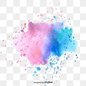 2020 的 Vector Color Hand Painted Watercolor Splash Color Vector