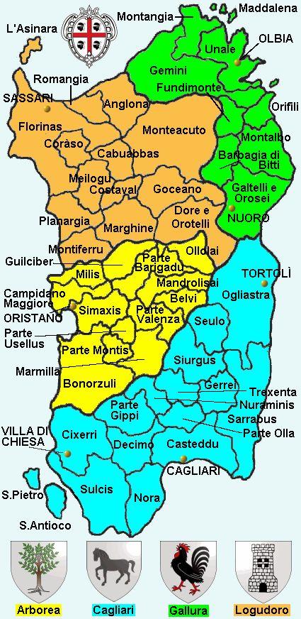 Cartina Del Regno Di Sardegna.Divisione Amministrativa Del Gran Regno Di Sardegna Sardegna