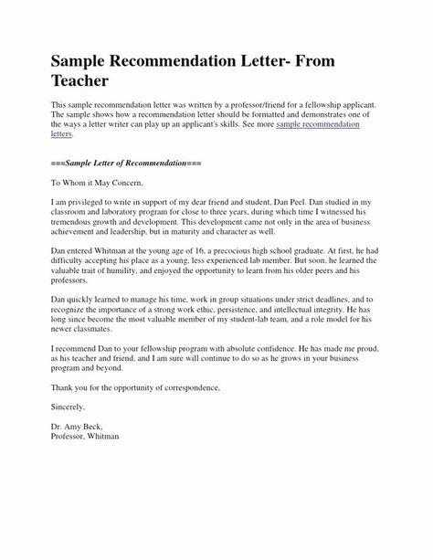 Peer Recommendation Letter Example New Letter For Student Scholarship Sample Short In 2020 Teacher Letter Of Recommendation Letter To Teacher Letter Of Recommendation