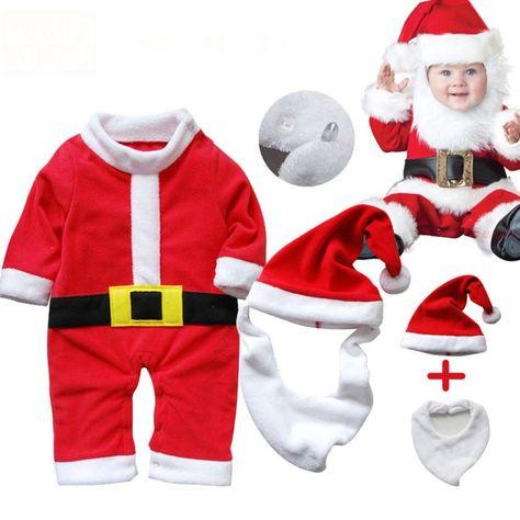 d2caebc07a90 De alta Calidad Niños de Navidad de Impresión Ropa de Niños Niñas Niños  Koala Bebé de Santa Claus Traje de manga Guapo T11