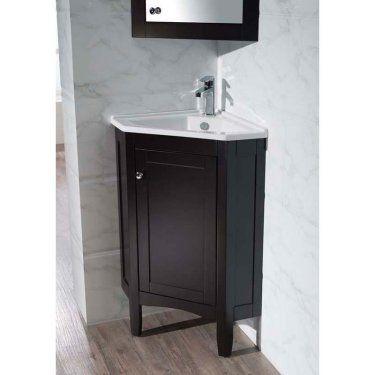 Stufurhome Monte 25 In Corner Bathroom Vanity With Medicine Cabinet Hayneedle Bathroom Vanity Vanity Vanity Set