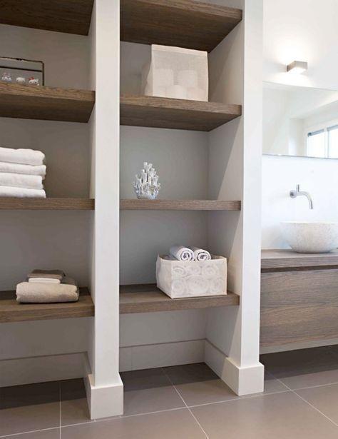 Nis Wandplank Maatwerk Massief Hout Blinde Bevestiging Badezimmer Rustikal Kleine Badaufbewahrung Aufbewahrung Regale