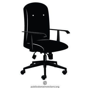 Publicdomainvectors Org Office Chair Silhouette Chair Office Chair Office