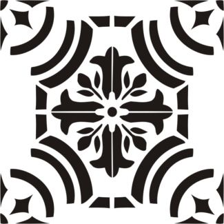 Painting Stencil Tangier Tile 12 Inch Stencils Wall Tile