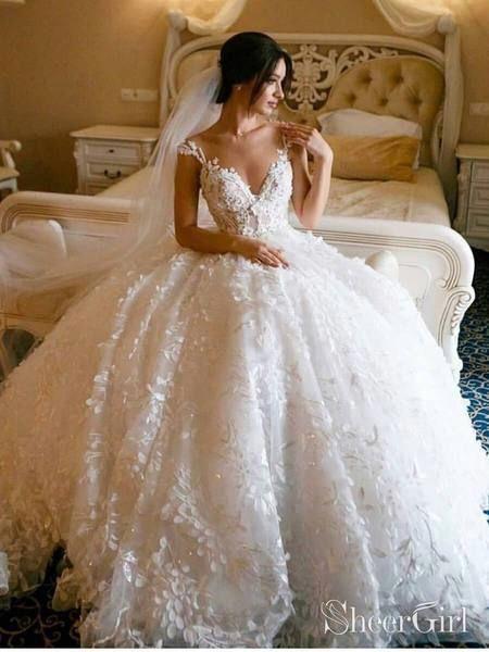 3d Floral Lace Wedding Dresses Vintage Ball Gown Wedding Dress Awd1456 Wedding Dresses Lace Ballgown Floral Lace Wedding Dress Vintage Ball Gown Wedding Dresses