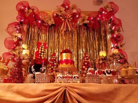 Red And Gold Birthday Party Ideas