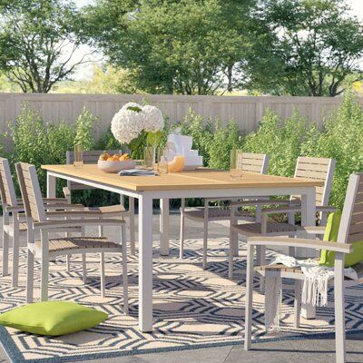 Sol 72 Outdoor Caspian Plastic Resin Dining Table Top Colour