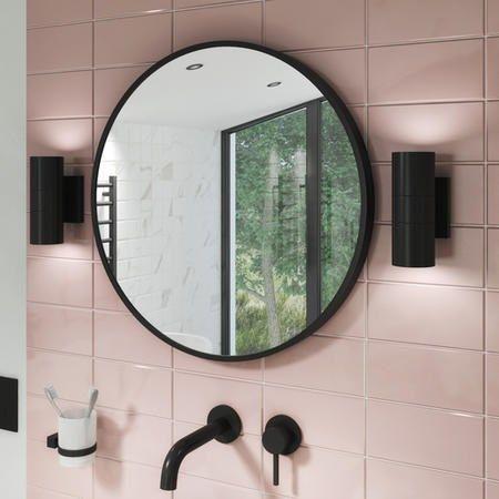 600 X 600mm Black Frame Round Mirror Alcor Better Bathrooms In 2020 Amazing Bathrooms Bathroom Mirror Frame Black Mirror Frame