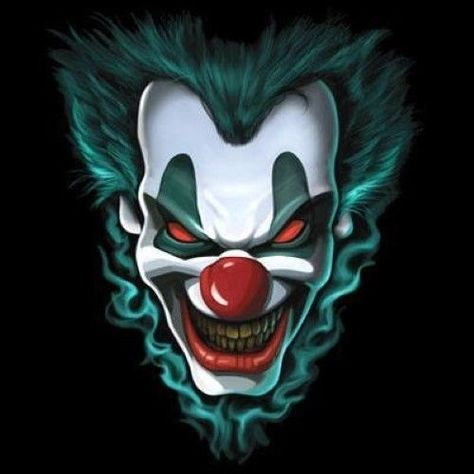 Cool Tshirt Freak Show Liquid Blue Evil Clown Dark Side Scary