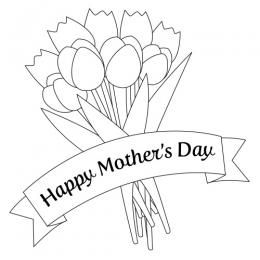 Mothers Day Clipart Black And White Mothers Day Coloring Pages Mothers Day Images Happy Mothers Day