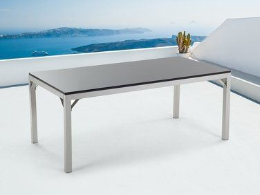Table de jardin - Table en granit - Aluminium - 180x90 cm ...