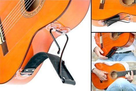 De Oro Flamenco Loco Guitar Support Xguitars Black Stainless Steel Flamenco Leather Straps