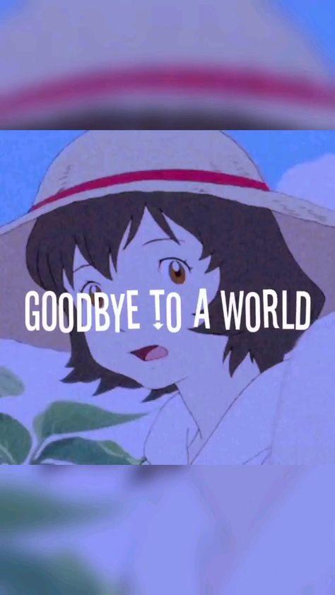 Goodbye to the world (wolf children anime)