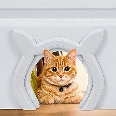 Amazon Com Prouder Pet Cat Door For Interior Indoor Doors Cat Shaped Diy Fits Most Standard Door Sizes For Cats Up To 21 L Cat Door Indoor Cat Indoor Pets