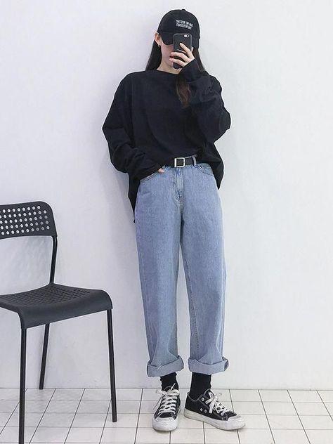 Korean Girl Fashion, Korean Fashion Trends, Korean Street Fashion, Ulzzang Fashion, Black Girl Fashion, Korea Fashion, Asian Fashion, India Fashion, Curvy Fashion