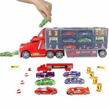 Pl Coches Juguetes Camión Transportador Para Niños 3 4 5 Años Juguete Transporte Playset 6 Mini Vehíc Juguetes Para Niñas Juguetes Coches De Juguete Para Niños