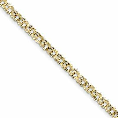 Ebay Ad Versil 10 Karat Lite 5mm Double Link Charm Bracelet Open Bangle Bracelet Gold Bracelet Chain Sterling Silver Cuff