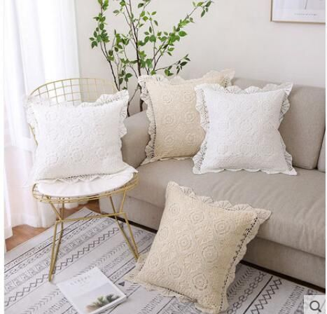 Pas Cher Main Classilca Floral Crochet Housse De Coussin Crochet