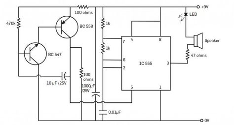 Ultrasonic Insect Repellent circuit Diagram in 2019
