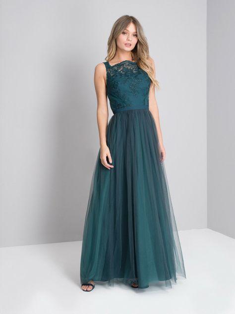 Abiti Da Sera On Line.Abito Vestito Elegante Cerimonia Da Sera Matrimonio Verde Smeraldo