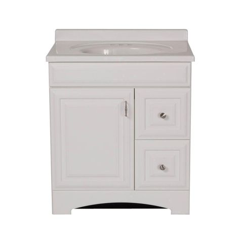 St Paul 30 In Providence Vanity White With 31 Cultured Marble Top Prsd30whp2com Wh At The Home Depot