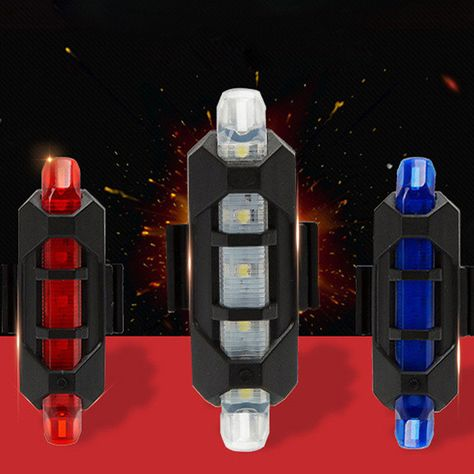 Bike 2Laser+5LED Flashing Lamp Rear Cycling Bicycle Tail Safety Warning Light KY