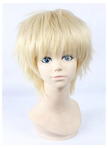 Cosplaza Anime Cosplay Wigs Light Blonde Boy Short Halloween Hair Want Additional Info Click On The Image Thi Wig Hairstyles Halloween Hair Light Blonde