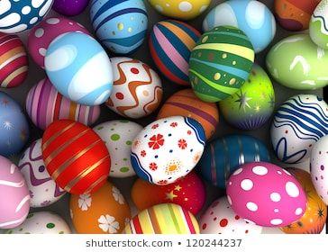 Background With Easter Eggs Computer Generated Image Paaseieren Paasideeen Knutselen