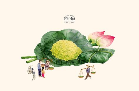 [Illustrations] Check out These Charming Watercolor Paintings of Traditional Hanoian Cuisine |  Urbanist Hanoi